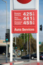 Gas price going up Royalty Free Stock Images