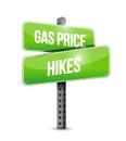 gas price hikes street sign illustration design Royalty Free Stock Photo