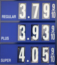 Gas prices Royalty Free Stock Photo