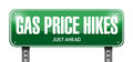 gas prices hikes street sign illustration design Royalty Free Stock Photo