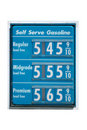 Gas prices on the rise Royalty Free Stock Photo