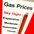 Gas Prices Sky High Monitor Stock Photos