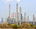 Gas processing factory landscape with gas industry and oil Royalty Free Stock Images