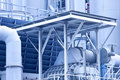 Gas processing plants in Hong Kong Royalty Free Stock Images