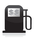 Gas Pump, High Fuel Prices Concept illustration Stock Photo