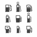Gas pump icons Royalty Free Stock Photo