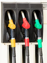 Gas pump nozzles Stock Photo