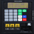Gas pump prices Royalty Free Stock Photo