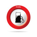 Gas pump red icon vector illustration Royalty Free Stock Photo
