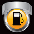 Gas pump in silver crest Royalty Free Stock Image