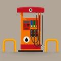 Gas pump station