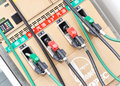 Gas pumps at filling machine Royalty Free Stock Photo