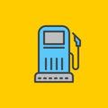Gas station filled outline icon, line vector sign, flat colorful pictogram. Symbol, logo illustration.