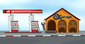 Gas station and garage