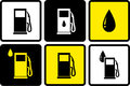 Gas station icons with fuel drop set of colorful Royalty Free Stock Photography