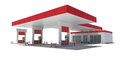 Gas station isolated render on a white background Stock Image