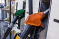 Gas station petrol fuel pump in Royalty Free Stock Photos