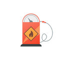 Gas station pump with fuel nozzle. Vector illustration Royalty Free Stock Photo