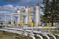 Gas storage and pipeline Royalty Free Stock Photos