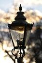 Gas street lamp, Westminster London England UK Stock Images