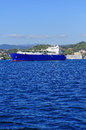 Gas tanker liquefied natural lng in the gulf of la spezia Stock Photo
