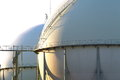 Gas tanks for petrochemical plant Stock Photos