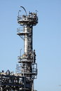 Gas terminal h photograph of a tower Stock Images