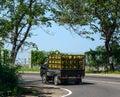 stock image of  Gas transportation pickup running on road