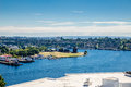 Gas works park on lake union view from rooftop of and seattle washington Stock Photography