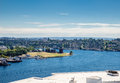 Gas works park on lake union view from rooftop of and seattle washington Stock Image