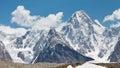 Gasherbrum iv karakorum pakistan is one of the most esthetic peaks in the mountains in northern paksitan Royalty Free Stock Images