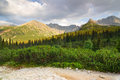 Gasienicowa valley in tatra mountains poland Stock Photo