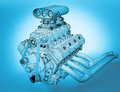 Gasoline engine Royalty Free Stock Photo