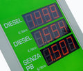 Gasoline price sign - Euro Royalty Free Stock Photography