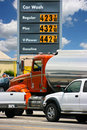 Gasoline prices in California Stock Images