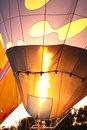 Gassing a hot air balloon in canberra act Stock Photo