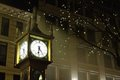 Gastown Steam Clock Night, Vancouver Royalty Free Stock Photo