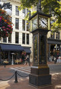 Gastown Steam Clock - Vancouver - Canada Royalty Free Stock Photo