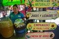 Gastronomic festival in Juayua Royalty Free Stock Photo