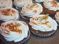 Gastronomische Banaan Cupcakes Stock Fotografie