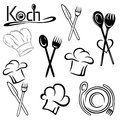 Gastronomy chef hats vector set with Royalty Free Stock Photography
