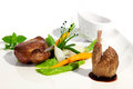 Gastronomy dish of with poultry Royalty Free Stock Image