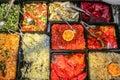 Gastronomy salads Royalty Free Stock Photo