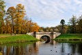 Gatchina Park in autumn Stock Photo