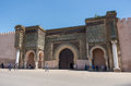 Gate of Bab el Mansour in Meknes, Morocco Royalty Free Stock Photo