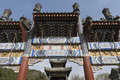 Gate beijing a decorated archway in the park of the summerpalace near china Royalty Free Stock Photos