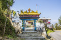 Gate of bon monastery the yung drung kundrak ling near ravangla india the relegion is older than buddhism and has left it s Stock Images