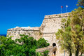 Gate and bridge of Kyrenia Castle. Cyprus Royalty Free Stock Photo