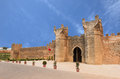 The gate of Chellah which is the world heritage in Rabat with bl Royalty Free Stock Photo