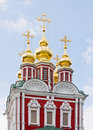 Gate Church of the Novodevichy Convent Royalty Free Stock Photo
